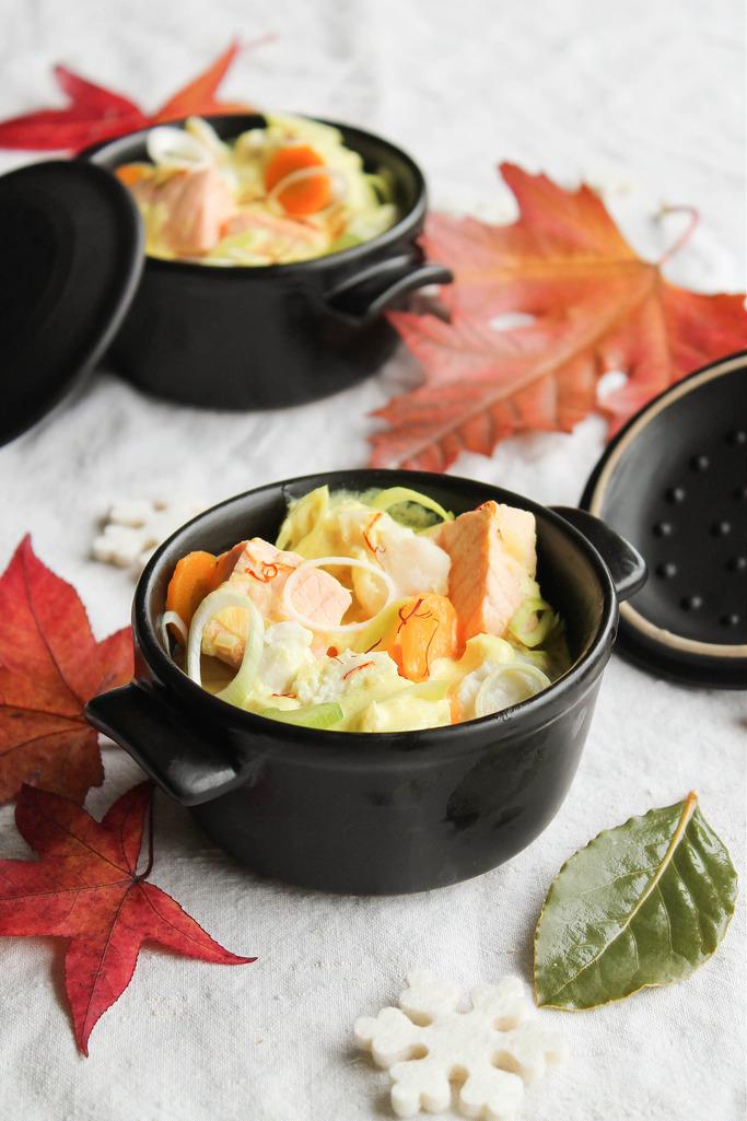 recettes-ludo-Cocotte de crustacés au safran