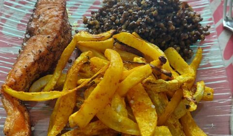 recettes-ludo-saumon-lentilles-radis-noir-frite-four